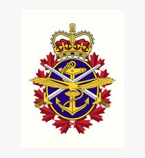 Badge of the Canadian Armed Forces Art Print