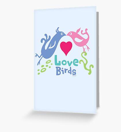 Love Birds - light colors Greeting Card