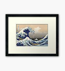 Lámina enmarcada 'The Great Wave Off Kanagawa' de Katsushika Hokusai (Reproducción)
