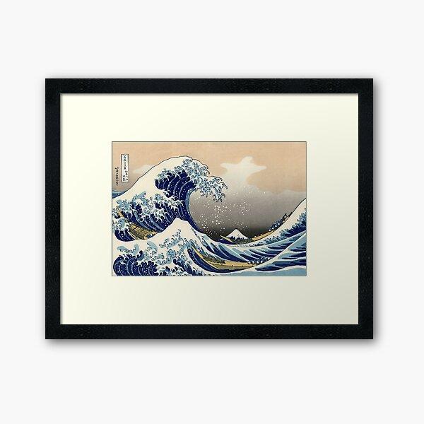 'The Great Wave Off Kanagawa' by Katsushika Hokusai (Reproduction) Framed Art Print