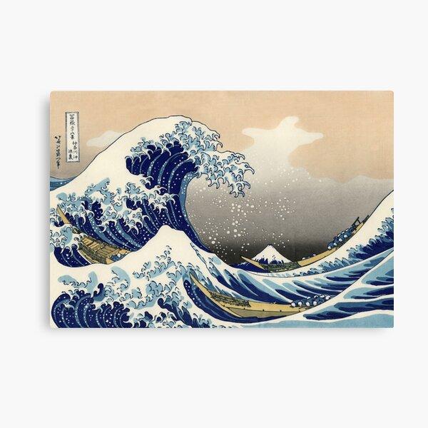 'The Great Wave Off Kanagawa' by Katsushika Hokusai (Reproduction) Canvas Print