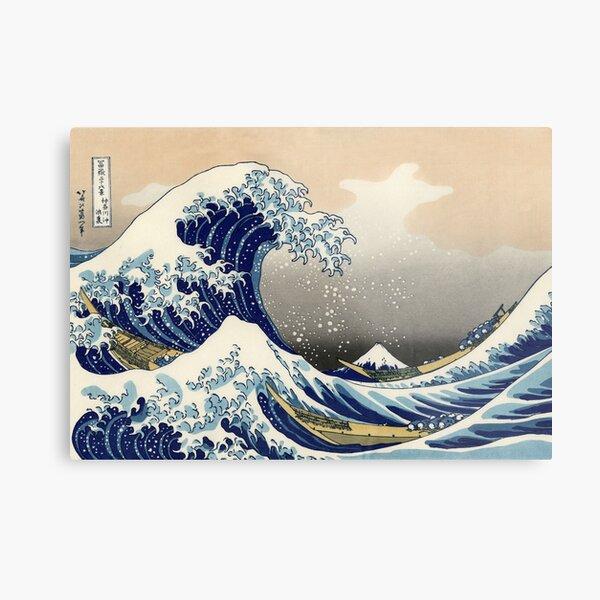 'The Great Wave Off Kanagawa' by Katsushika Hokusai (Reproduction) Metal Print
