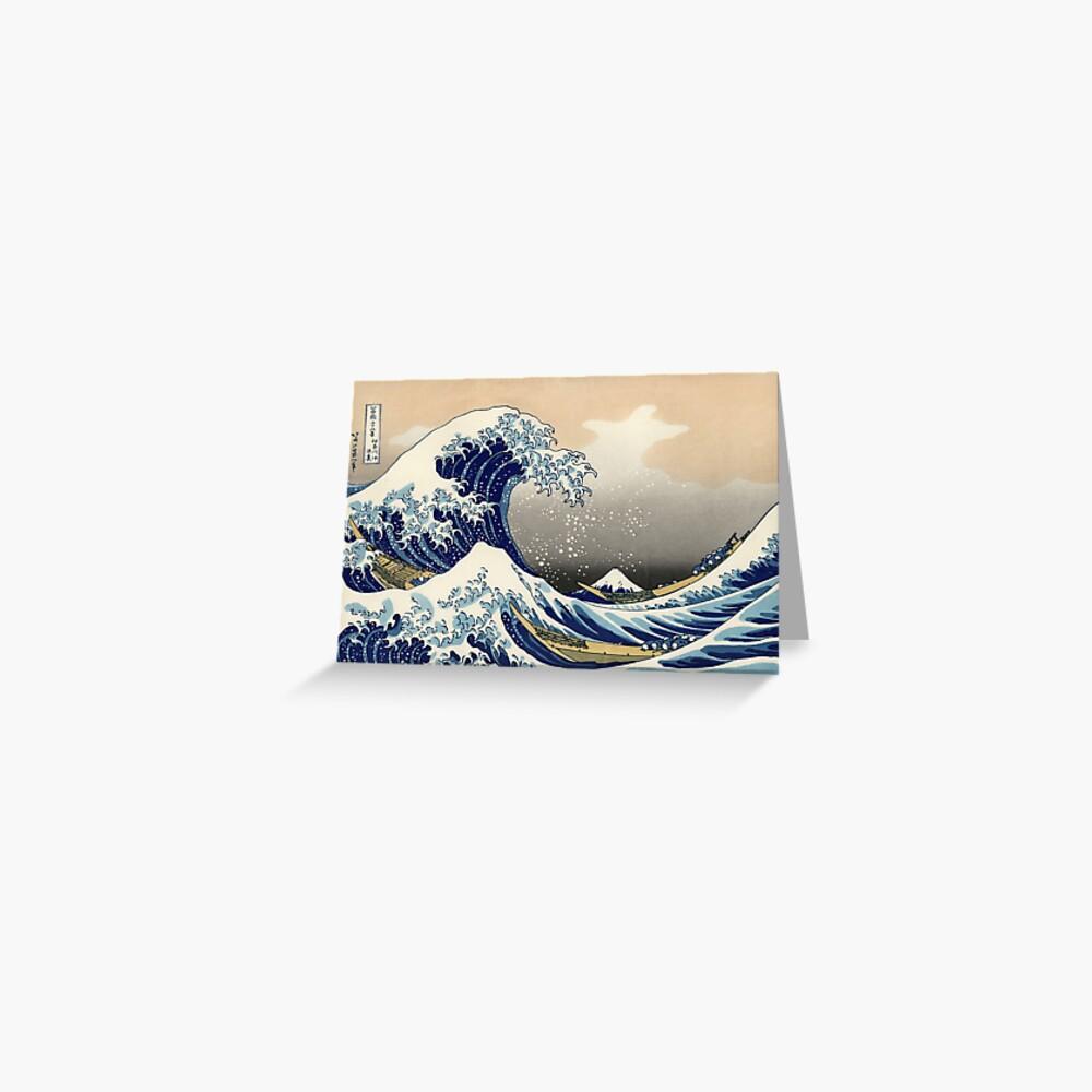 'The Great Wave Off Kanagawa' de Katsushika Hokusai (Reproducción) Tarjetas de felicitación