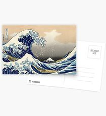 'The Great Wave Off Kanagawa' by Katsushika Hokusai (Reproduction) Postcards