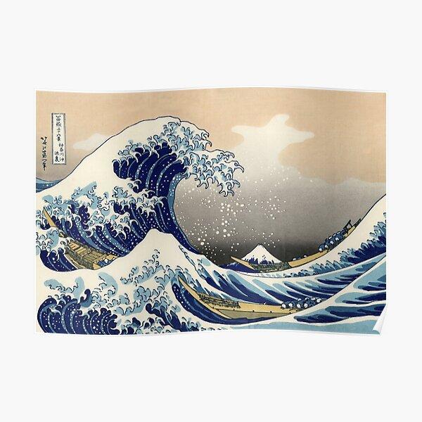 'The Great Wave Off Kanagawa' by Katsushika Hokusai (Reproduction) Poster