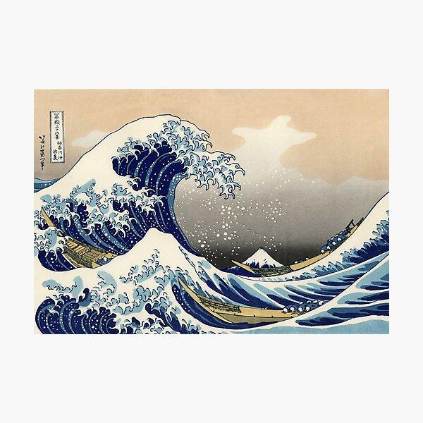 'The Great Wave Off Kanagawa' by Katsushika Hokusai (Reproduction) Photographic Print