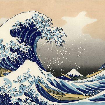 'The Great Wave Off Kanagawa' by Katsushika Hokusai (Reproduction) by RozAbellera