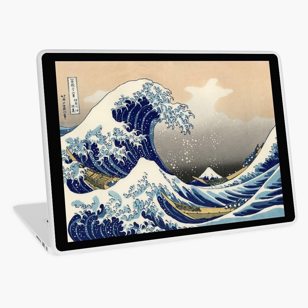 """""""Die große Welle vor Kanagawa"""" von Katsushika Hokusai (Reproduktion) Laptop Folie"""