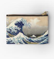 'The Great Wave Off Kanagawa' by Katsushika Hokusai (Reproduction) Zipper Pouch