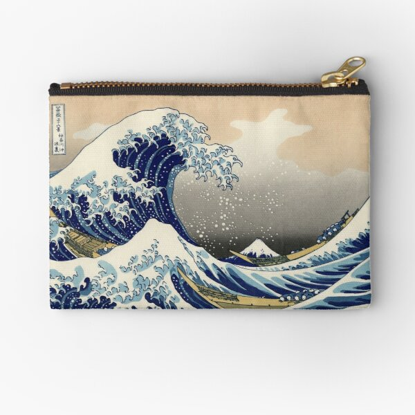 'The Great Wave Off Kanagawa' by Katsushika Hokusai (Reproduction) Zipper Pouch