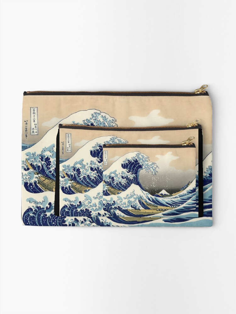 Alternate view of 'The Great Wave Off Kanagawa' by Katsushika Hokusai (Reproduction) Zipper Pouch