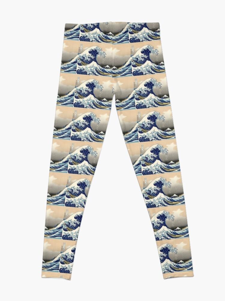 """Alternative Ansicht von """"Die große Welle vor Kanagawa"""" von Katsushika Hokusai (Reproduktion) Leggings"""