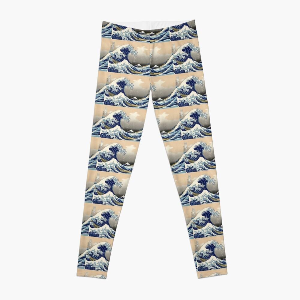 """Die große Welle vor Kanagawa"" von Katsushika Hokusai (Reproduktion) Leggings"