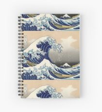 'The Great Wave Off Kanagawa' by Katsushika Hokusai (Reproduction) Spiral Notebook