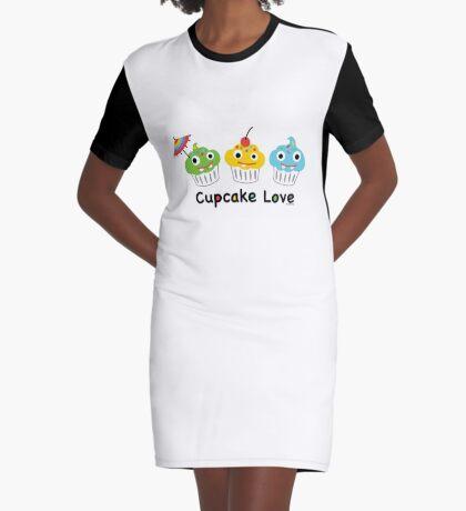 Cupcake Love II Graphic T-Shirt Dress