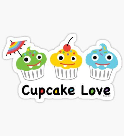 Cupcake Love II Sticker