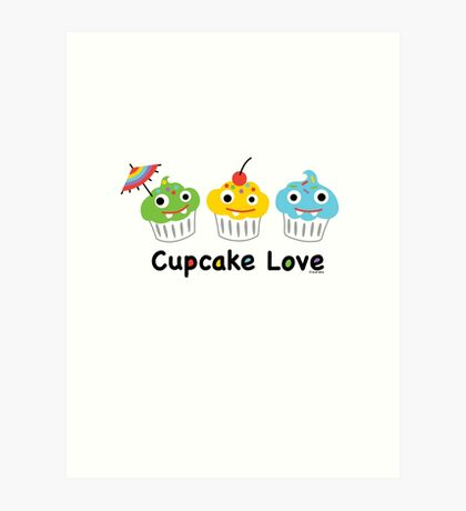 Cupcake Love II Art Print