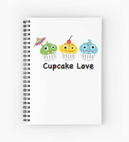 Cupcake Love II Spiral Notebook