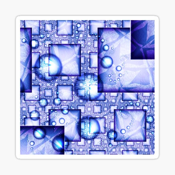 Cubes And Spheres Sticker