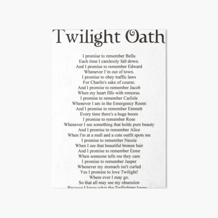 Twilight Oath Art Board Print