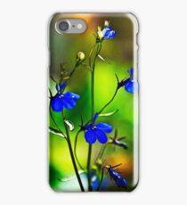 Blue Flowers Anime iPhone Case/Skin