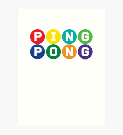 Ping Pong - primary colors Art Print