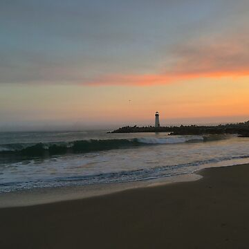 Santa Cruz Lighthouse at Sunset by ATJones