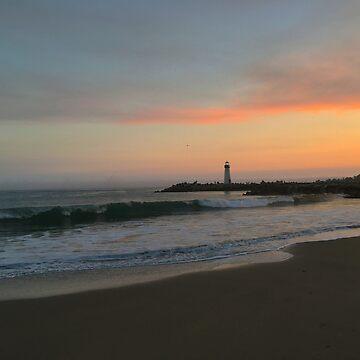Santa Cruz Lighthouse at Sunset by ATJones