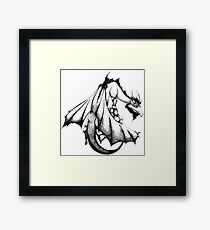 A Dragon Venture Framed Print