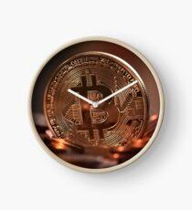 Bitcoin Digital Money Cash Global Currency Clock