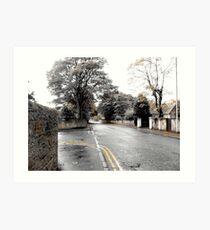 Scottish Town Scenery Art Print