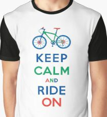 Keep Calm and Ride On - mountain bike - primary Graphic T-Shirt