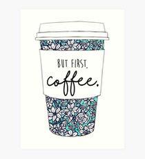 Floral Coffee Art Print