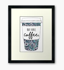 Floral Coffee Framed Print