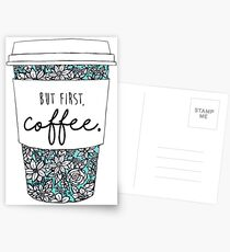 Floral Coffee Postcards
