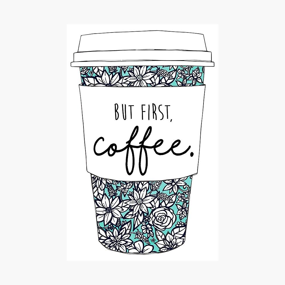 Blumenkaffee Fotodruck