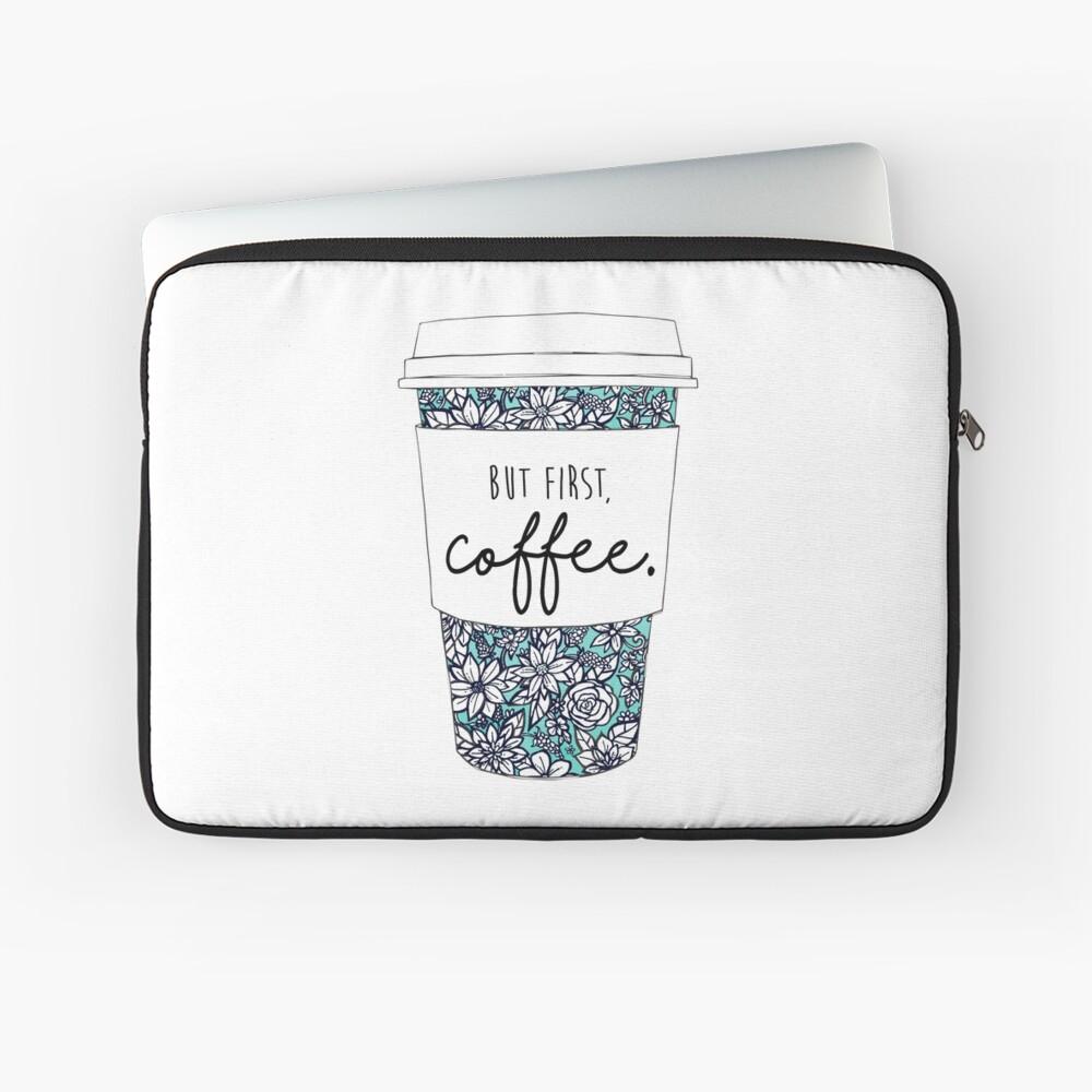 Blumenkaffee Laptoptasche