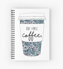 Floral Coffee Spiral Notebook
