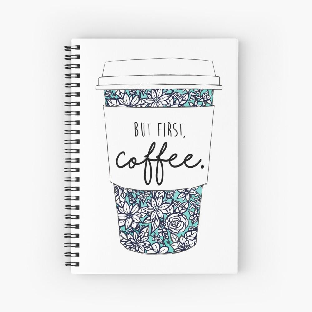 Floral Coffee Spiral Notebook