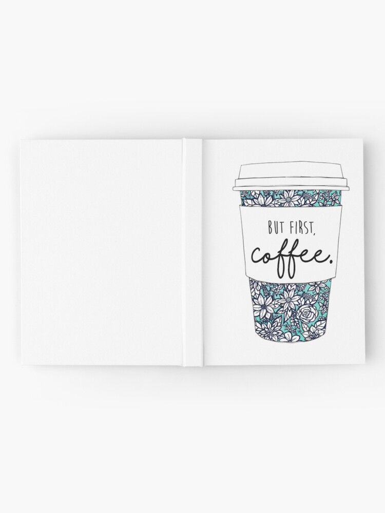 Alternate view of Floral Coffee Hardcover Journal