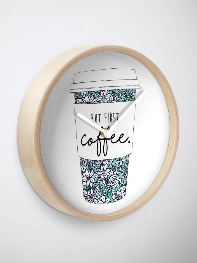 Alternative Ansicht von Blumenkaffee Uhr