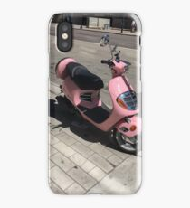 Pink Moped iPhone Case/Skin