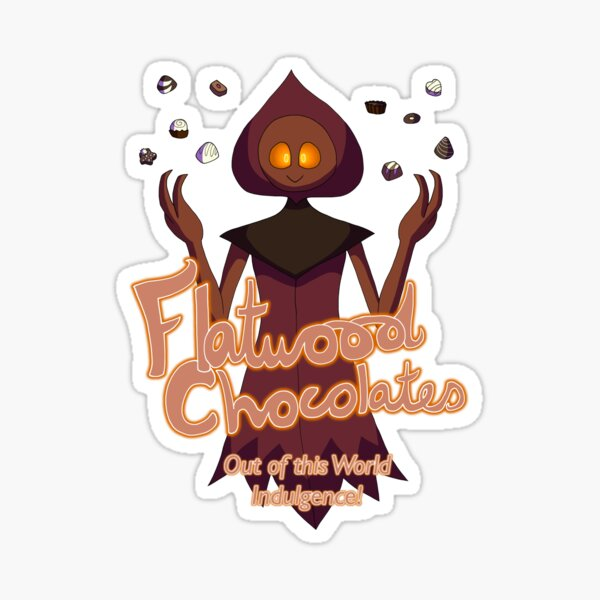Flatwood Chocolates - Advertisement Style Sticker