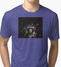 Monkey black and white Tri-blend T-Shirt