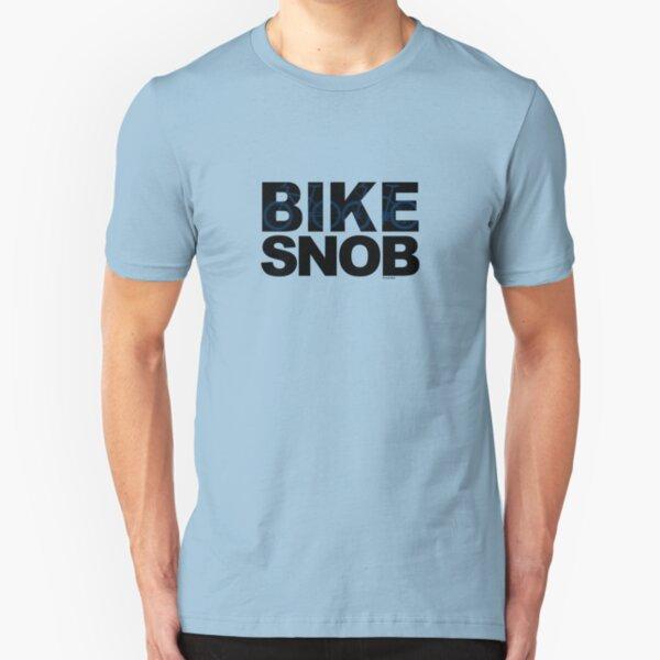 Bike Snob / bicycle snob - blue Slim Fit T-Shirt