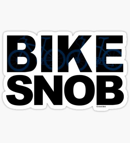 Bike Snob / bicycle snob - blue Sticker