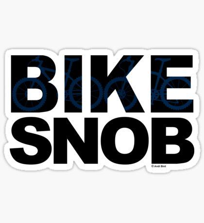 Bike Snob / bicycle snob - blue Sticker