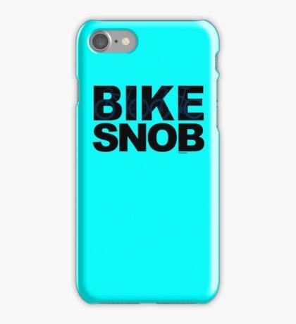 Bike Snob / bicycle snob - blue iPhone Case/Skin