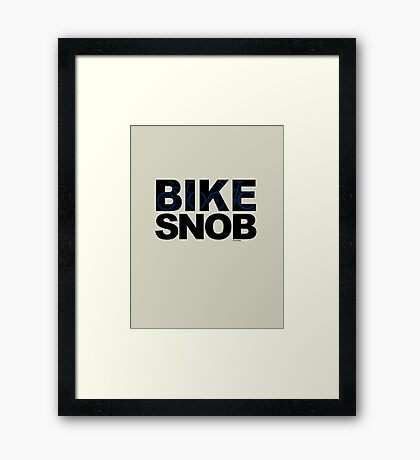Bike Snob / bicycle snob - blue Framed Print