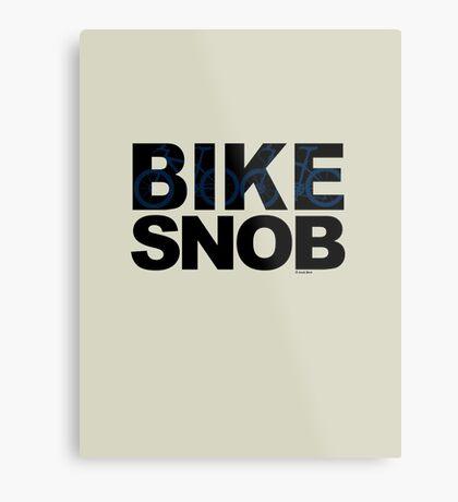 Bike Snob / bicycle snob - blue Metal Print